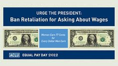 Take action today by urging President Obama to issue an executive order banning retaliation against federal contract employees for discussing their pay. #equalpay