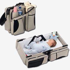 Cool, compact baby crib.  Portable too!!