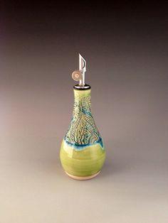 Handmade Dispenser for Olive Oil Vinegar or by NorthWindPottery, $39.00