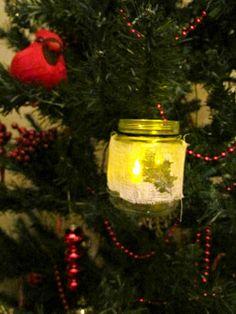 Glowing Holiday Jar Ornament | FaveCrafts.com