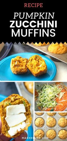 These Homemade Pumpkin Zucchini Muffins Are So Flavorful And Moist. The Batter Is Easy To Mix In A Few Minutes And Has Great Add-In Options Like Chocolate Or Raisins Kid Approved Recipe That The Family Will Love For Breakfast, Snack Or On The Go Meal. Pumpkin Zucchini Muffins, Zucchini Muffin Recipes, Bread Recipes, Breakfast Snacks, Breakfast Recipes, Pumpkin Recipes, Fall Recipes, Pumpkin Pie Mix, Baking Muffins