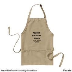 Retired Defensive Coach Adult Apron