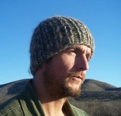 rugged bulky knit hat pattern= easy