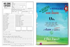 A Class Time Capsule (American edition) Time Capsule, World History, Teacher Resources, No Time For Me, Worksheets, This Book, Self, Mindfulness, Student
