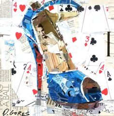 Derek Gores -  Collage collage art #highheels #highheelart #figurativeart…