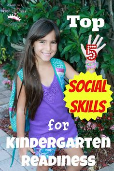 Top 5 Social Skills for Kindergarten Readiness - Offered for free by Mom to 2 Posh Lil Divas. Great information to share with parents! Good post about socio-emotional development in early-middle childhood. Kindergarten Readiness, School Readiness, Preschool Kindergarten, School Counselor, Preschool Activities, School Teacher, Preschool Behavior, Reading Activities, Pre School