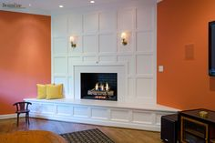 gorgeous fireplace accent wall