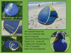 Pop up Beach tent, beach sun shelter UV 50+ Genji Sports,http://www.amazon.com/dp/B001B3ZDDY/ref=cm_sw_r_pi_dp_H7vhtb1N777GT81E