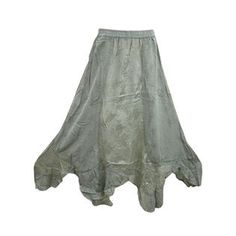 Mogulinterior Maxi Skirt Stonewashed Embroidered Long Hippie Boho Gypsy Summer Skirts