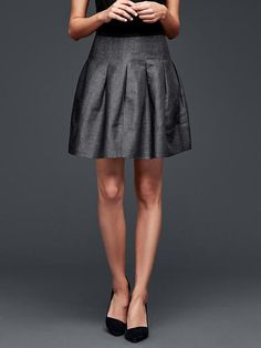 Pleated linen skirt - I need about four of these so I can wear one basically every other day...