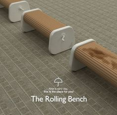The Rolling Bench by Sungwoo Park #design #outdoor