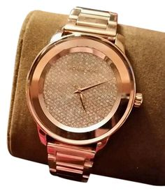 Michael Kors Michael Kors Kinley Rose Gold Tone Crystal Pave Bling Luxury Watch NEW