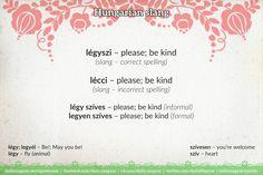 légyszi [ˈleːɟsi] – please; be kind  lécci [ˈleːtsːi] – please; be kind  https://dailymagyar.wordpress.com/2017/10/10/legyszi/