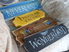 Fairy tale & Storybook signpost signs School reading corner
