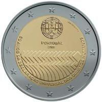 "Portugal bijzondere 2 Euromunten - Portugal 2 Euro 2008 ""60 jaar mensenrechten"" Portugal, Euro Währung, Piece Euro, Euro Coins, Commemorative Coins, World Coins, Coin Collecting, Precious Metals, Things To Come"
