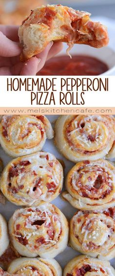 DIY Party Food : Homemade Pepperoni Pizza Rolls | Mels Kitchen Cafe