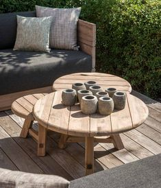 These Gommaire Anton Coffee Tables are a top of the range coffee table made from teakwood giving them a rustic yet modernised look. The Anton Coffee Tables are crafted with impeccable quality and attention to detail that will enhance any outdoor space. Teak Coffee Table, Outdoor Coffee Tables, Teak Table, Round Coffee Table, Outdoor Spaces, Outdoor Living, Outdoor Decor, Teak Outdoor Furniture, Kitchen Furniture