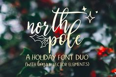 North Pole | A Holiday Font Duo by Jen Wagner Co on @creativemarket