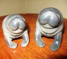 Vintage Manatee Salt and Pepper Shakers By Five and Dime Florida Man Wife VTG Salt N Pepa, Sea Cow, Man And Wife, Vintage Tableware, Salt And Pepper Set, Aviation Art, Animals Of The World, Salt Pepper Shakers, Thrifting