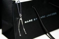 $18.98 #MARCJACOBS #Silver #Plated #Wishbone #Necklace #LimitedEdition 100% #Authentic