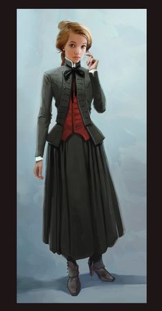 sometimes I like simplicity in steampunk. Steampunk Characters, Fantasy Characters, Female Characters, Character Concept, Character Art, Concept Art, Le Far West, Character Portraits, Dieselpunk