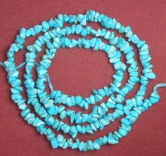 Sleeping-Beauty-Turquoise-Gemstone-3-to-4mm-Loose-Chip-Craft-Beads-Blue-18-204