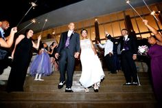Sparkler exit at Hurst Conference Center, Dallas Wedding Planner, Swank Soiree