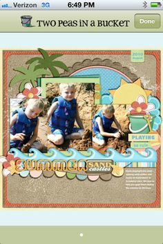 Summer layout..would like for a titel page as well
