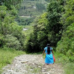 #Ngöbe #woman walking to downtown #Boquete in #Chiriqui #Panama