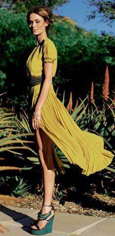 Pretty Silk Dress - Travel chic.
