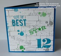What a great idea, I tried to do something like this with the brick wall embossing folder but just couldn't get it right - this one from Julie Japes is brilliant