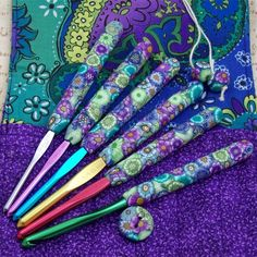 Crochet Hook Case with Set of Susan Bates by polymerclayshed, $58.00