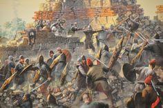Los últimos defensores de Constantinopla defienden la ciudad entre sus arruinadas murallas