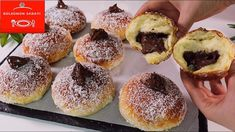 Beignet Nutella, Baked Donuts, Bread And Pastries, Strudel, Greek Recipes, Four, Fritters, No Bake Cake, Biscotti
