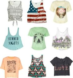 Tween or teen girls fashion summer tops. Can I have all of these, yet not crop top
