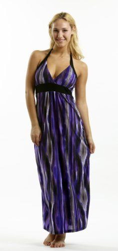 72923XR-P-4X Curve Appeal Halter Top Maxi Dress « Dress Adds Everyday