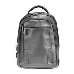 Brian Backpack    Osgoode Marley leather // Men's Fashion Cowhide Leather, Leather Men, Black Backpack, Brushed Nickel, Sling Backpack, Pouch, Backpacks, Mens Fashion, Zip
