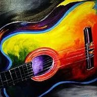 Poor guitar. It's pretty, though