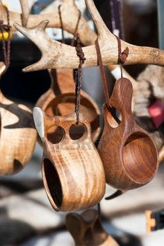 Kuksa - Traditional Finnish Wooden Cup Stock Photo, Picture And Royalty Free Image. Kuksa Cup, Carved Spoons, Got Wood, Wood Spoon, Whittling, Wooden Bowls, Wooden Crafts, Wood Sculpture, Wood Design