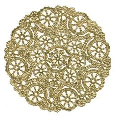Spray paint doilies gold - cheaper than place settings