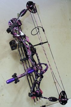 Purple camo bow - nothing more needs to be said for the sheer awesomeness of this bow!