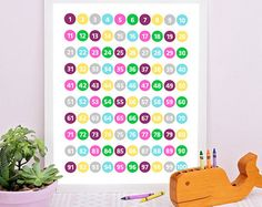 Check out Education Wall Art, nursery wall art, Numbers art, educational poster, counting print, Numbers print, play room decor, Kids room decor on sugarpickledesigns