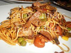 Cinco sentidos na cozinha: Chow mein  de vaca