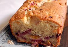 Fresh Peach Coffee Cake with Raspberries Recipe