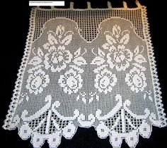 Crochet Curtains, Crochet Doilies, Valance Curtains, Gold Fashion, Fashion Necklace, Home Decor, House, Crochet Table Runner, Towels