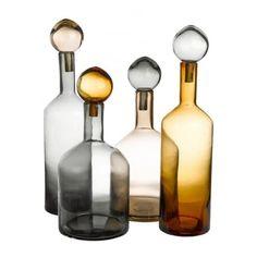Pols Potten Bubbles & Bottles Chic Mix Set of 4 Glass Bottles