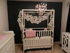 Luciana Shaffer's Nursery featuring the Bratt Decor Soho Crib