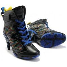 Air Jordan 6 High Heel Blue Black