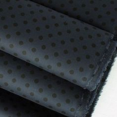 Navy & Black Spotted Cotton