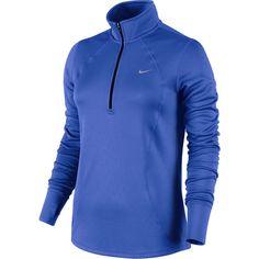 Nike Long-Sleeve Racer Half-Zip Top ($60) ❤ liked on Polyvore featuring activewear, nike, nike sportswear and nike activewear